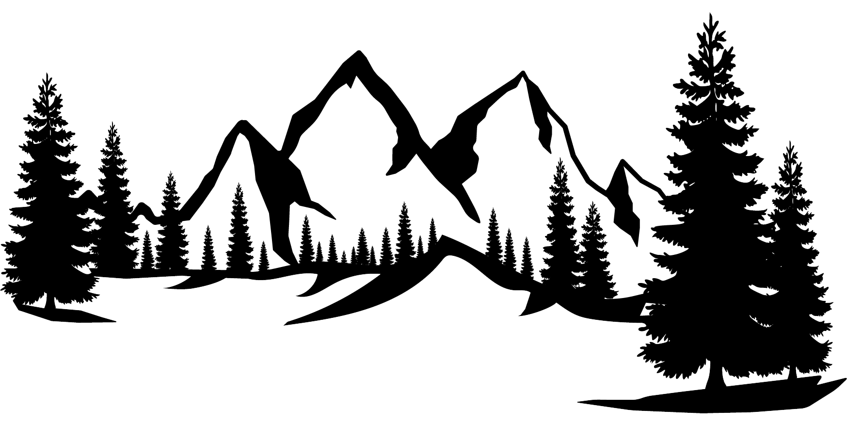 Mountain Silhouette Divider