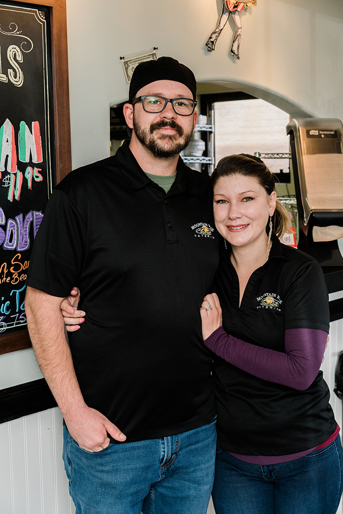 Rafe and Dove, owners of Mountain Rose Catering